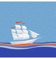 Sailing ship vector image