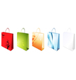 decorated shopping bag vector image vector image