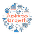 blue round business growth concept vector image