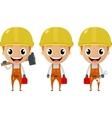 construction worker cartoon character vector image