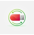 Data recovery icon vector image