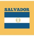 el salvador country flag vector image