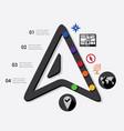 navigation infographic vector image