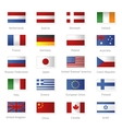 World flags as stamps vector image