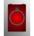 Poster Silver Sequin Frame Christmas Ball vector image