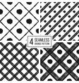 Grunge seamless pattern of black white diagonal vector image vector image