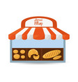 bread shop store product vector image