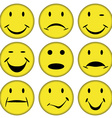 smilies and faces vector image