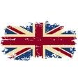British grunge flag vector image vector image