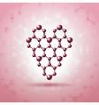 Atom heart vector image