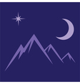 moon star mountains vector image vector image