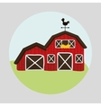 Farm design animal icon white background vector image