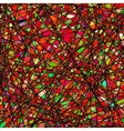 Stained glass texture vector image