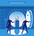bank vault concept vector image
