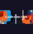 clear direction concept of leadership head vector image