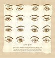 female eyes vintage poster design vector image