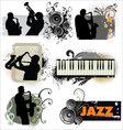 Grunge Jazz banners vector image