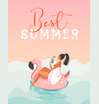 hand drawn abstract fun summer time vector image
