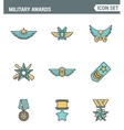 Icons line set premium quality military awards vector image