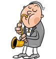 man with saxophone cartoon vector image