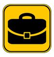 Portfolio symbol button vector image