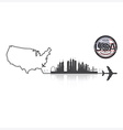 United States Of America Skyline Buildings vector image