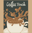 banner with a cup of coffee and inscription vector image