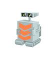cartoon crawler robot character vector image