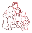 Family with children vector image vector image