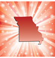 Red Missouri vector image