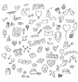 Love doodle set vector image