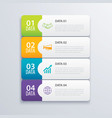 4 infographic tab index banner design and vector image