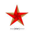 Origami Star from paper vector image