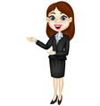 Smiling business woman presenting vector image