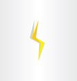 thunder lighting bolt yellow flash icon vector image