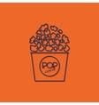 pop corn icon vector image