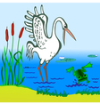Stork and Frog vector image