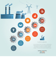 industrial infographic 5 vector image