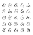 Big ampersand symbol collection vector image