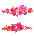 bubble string pattern in multiple pink orange vector image