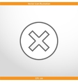 close web flat icon vector image