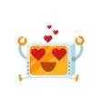 In Love Little Robot Character vector image