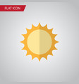 isolated sun flat icon solar element can vector image