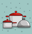 restaurant pot icon vector image