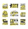 Run sport motivation set vector image