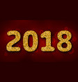 shimmering background with golden dust for 2018 vector image