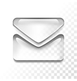 transparent letter vector image