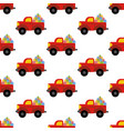 truck woth presents pattern vector image
