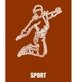 Sport Girl Jumping vector image
