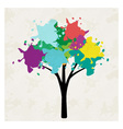 Tree with blots vector image
